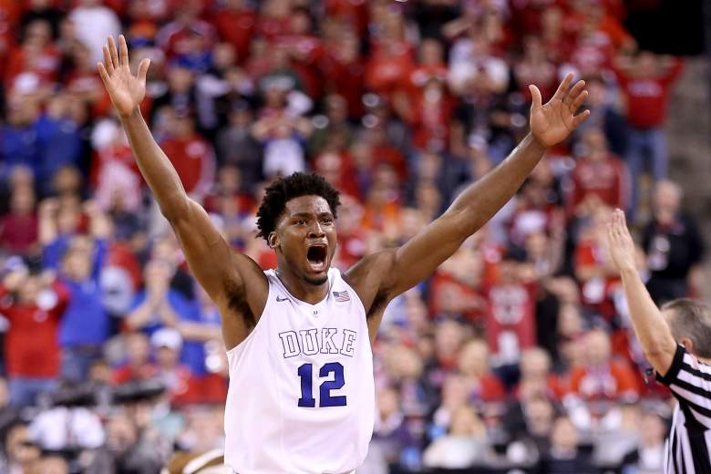 Justise Winslow showing some emotion on the court. (Getty)