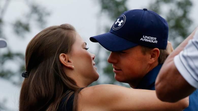 Jordan Spieth's girlfriend Annie Verret was not seen at his U.S. Open victory. (Getty)