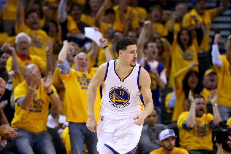 Klay Thompson and the Warriors host the Cavaliers in Game 1 of the NBA Finals on Thursday night. (Getty)