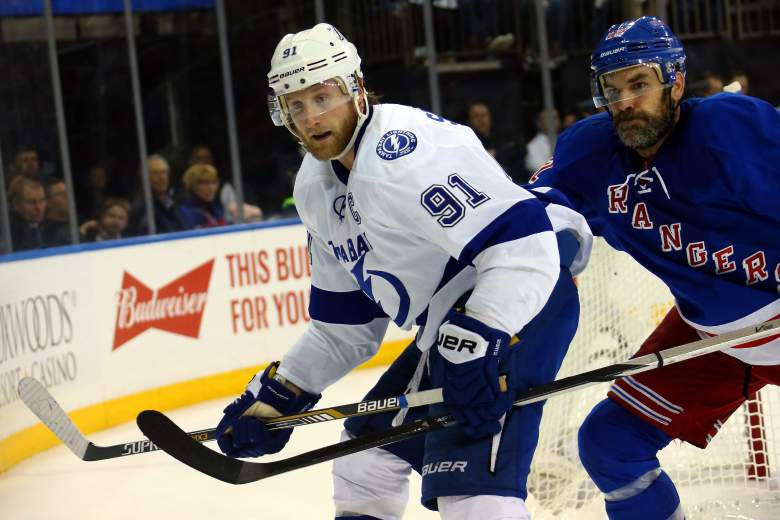 Steven Stamkos and the Tampa Bay Lightning are favored in Game 1 of the Stanley Cup Final. (Getty)