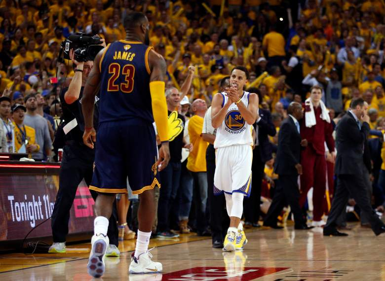 The Golden State Warriors took Game 1 from the Cleveland Cavaliers on Thursday night. (Getty)