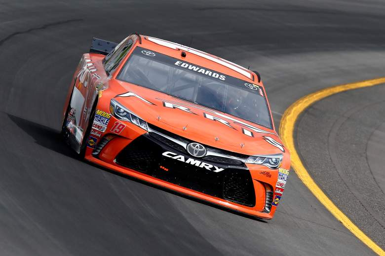 Carl Edwards will start in the second position in Sunday's Axalta 400. (Getty)