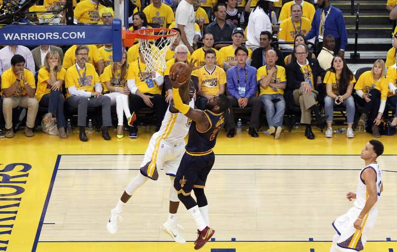 Golden State is an 8-point favorite over Cleveland for Sunday's Game 2. (Getty)