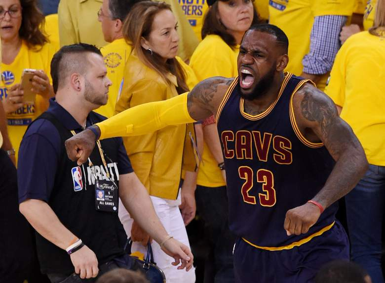 LeBron James recorded another triple-double in Game 2 of the NBA Finals Sunday night. (Getty)