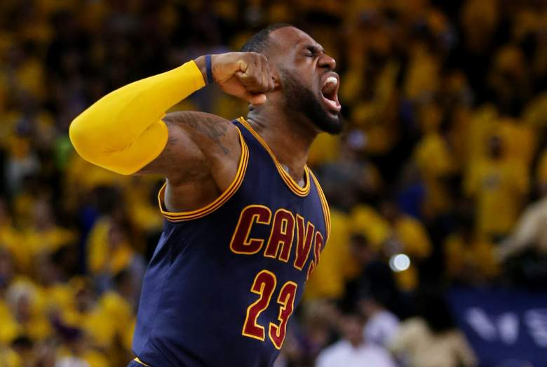 LeBron James recorded a triple-double Sunday night. (Getty)