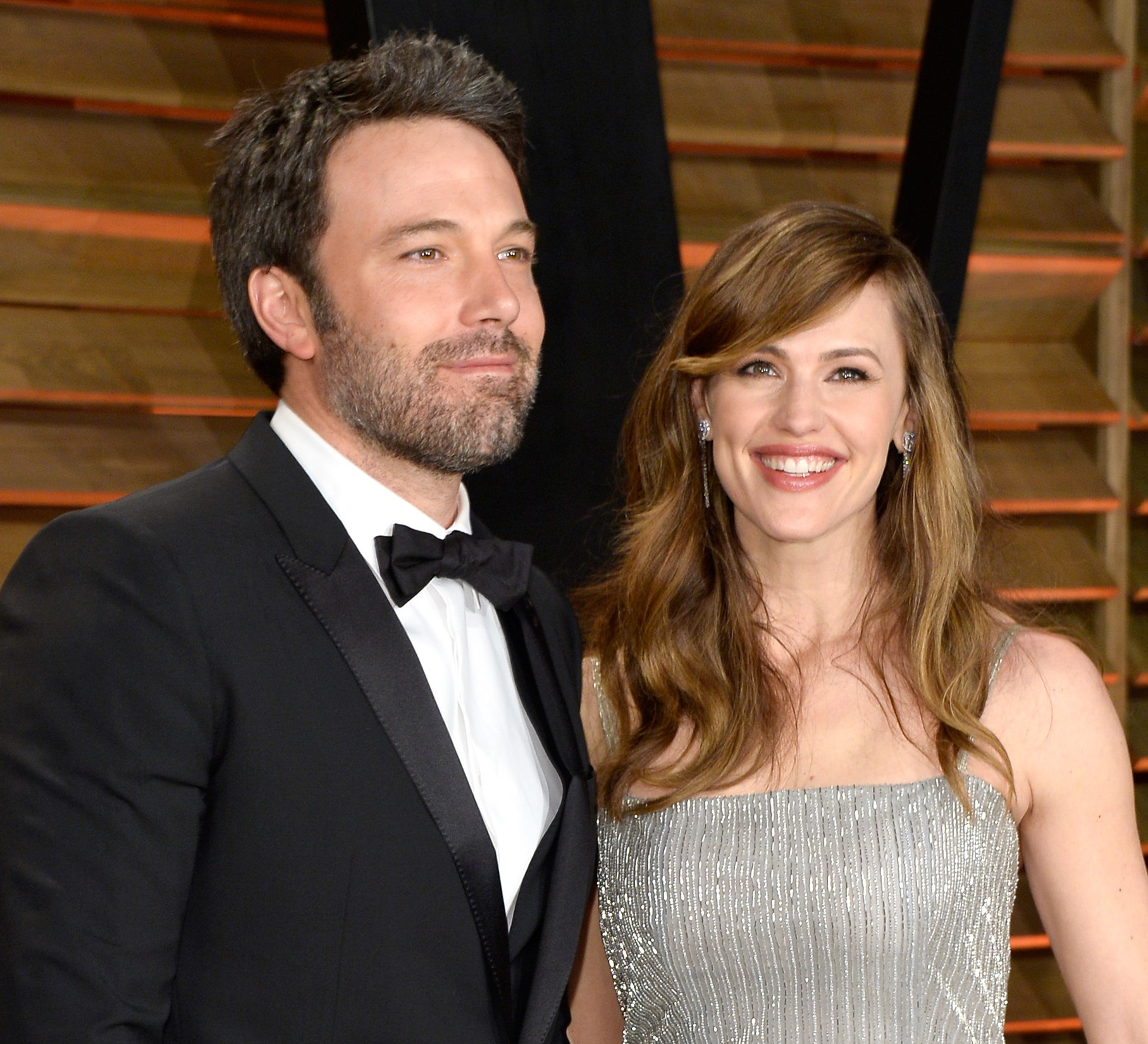 Affleck and Garner at an Oscars party in 2014. Getty