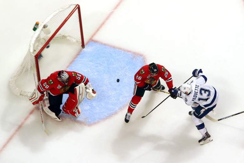 Cedric Paquette scored the game-winning goal in Game 3 to give Tampa Bay a 2-1 series lead. Getty)