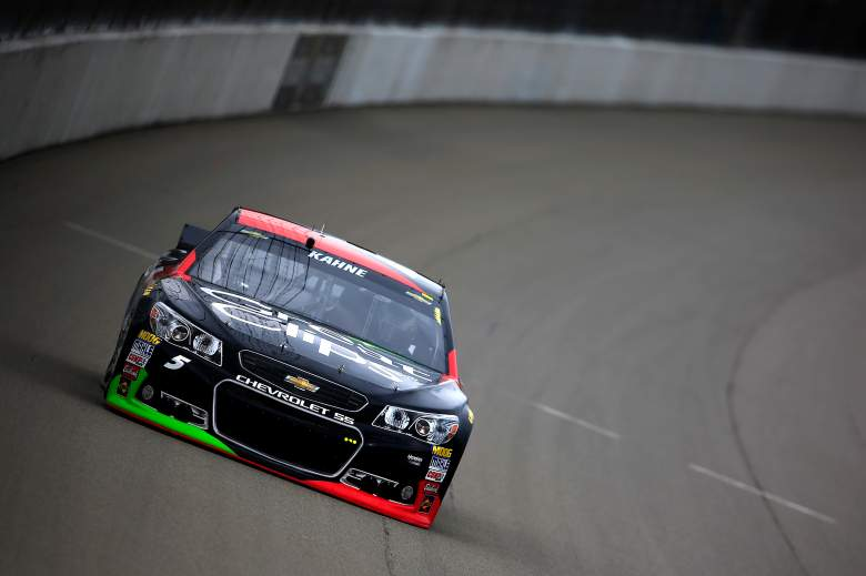 Kasey Kahne is on the pole for Sunday's Quicken Loans 400. (Getty)