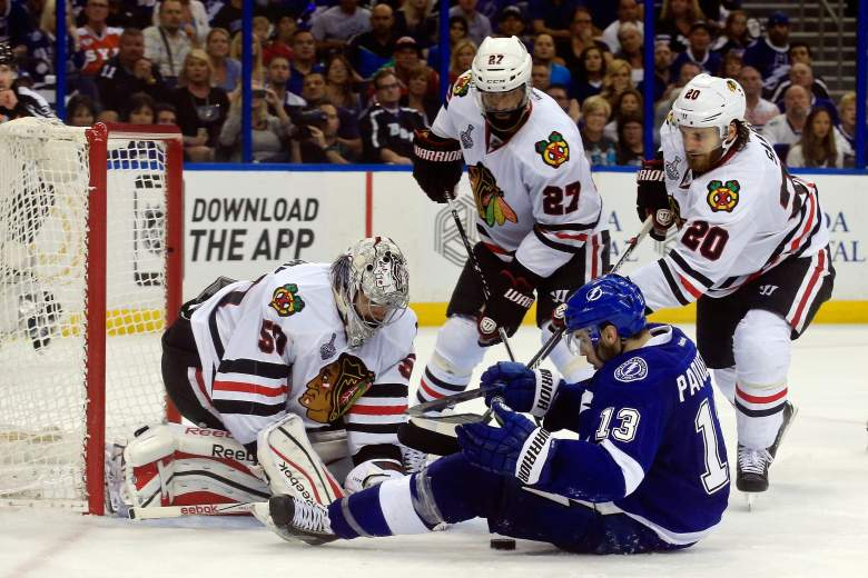 The Blackhawks defeated the Lightning 2-1 in Game 5 of the 2015 Stanley Cup Final. (Getty)