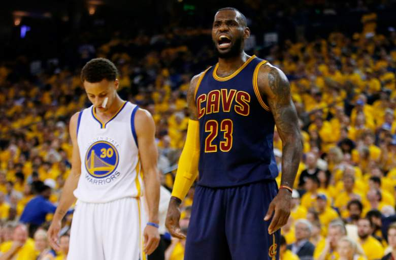 Lebron James and Steph Curry had quite the duel. (Getty)