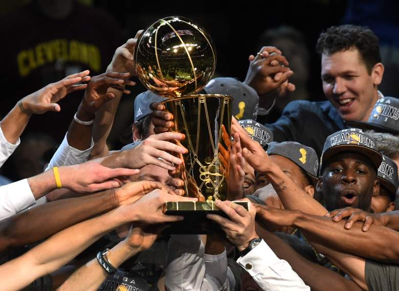 The Golden State Warriors got a chance to celebrate their NBA championship in Cleveland. Now it's time to do it in Oakland. (Getty)