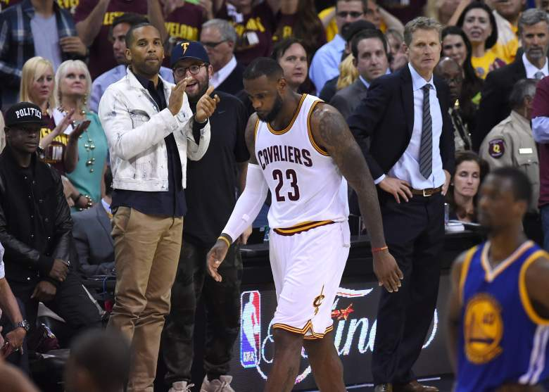 Lebron James walks off the court at the end of Game 6. (Getty)