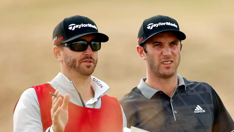 Austin and Dustin Johnson are one of the few brother-brother caddie-golfer combos. (Getty)