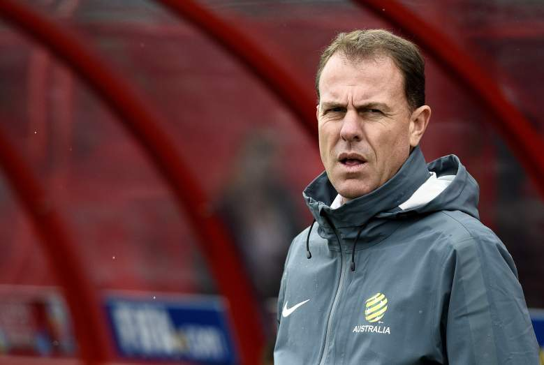 Australia's head coach Alen Stajcic looks on during the 2015 FIFA Women's World Cup round of 16 match between Brazil and Australia at Moncton Stadium, in Moncton, New Brunswick on June 21, 2015. AFP PHOTO / FRANCK FIFE (Photo credit should read FRANCK FIFE/AFP/Getty Images)