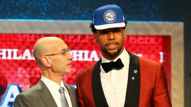 New 76ers big man Jahlil is the early favorite to win the NBA rookie of the year. (Getty)