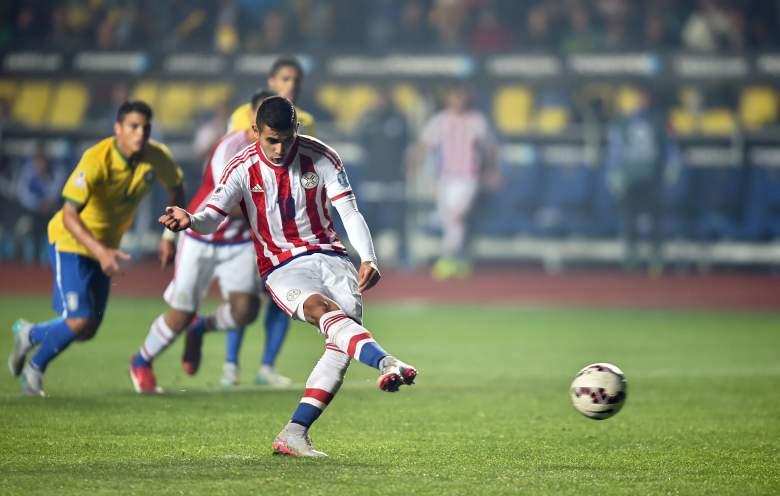 Derlis Gonzalez was the hero for Paraguay in the quarterfinals. (Getty)
