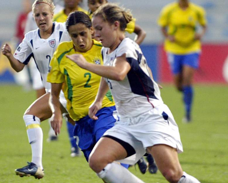 Rodriguez playing for the USWNT U-19 squad in 2004. (Getty)