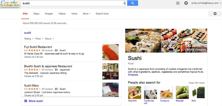 google search, yelp, google plus
