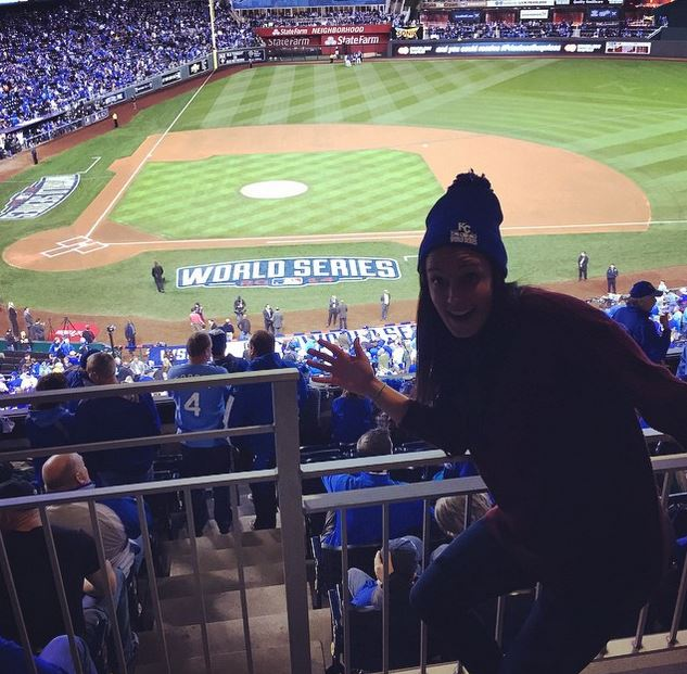 Huffman had a bit more time on her hands once she wasnt playing competitively - time she spent taking in the World Series. Instagram)