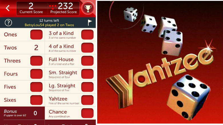 free board game apps, Yahtzee with Buddies