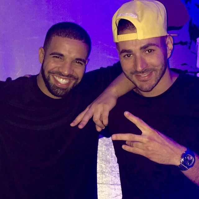 Drake (L) and Karim Benzema. Instagram: @karimbenzema