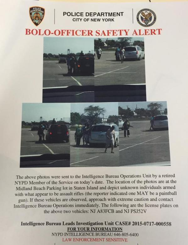 assault rifles, Staten Island lockdown