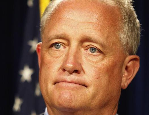 Joe Deters at a press conference following his decision not to seek a hate crime prosecution following the July 4 Government Square attack of a white man by a group of black men. Deters argued that there was no proof that the victim, Christopher McKnight, was attacked just because he was white. (Screen grab from released video)