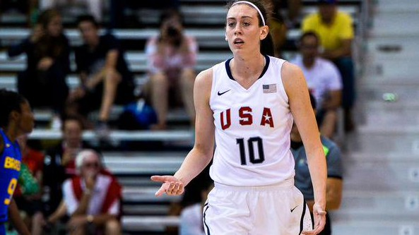 Breanna Stewart leads the United States against Canada in the Pan Am Games women's basketball gold medal game on Monday, July 20. (Twitter)