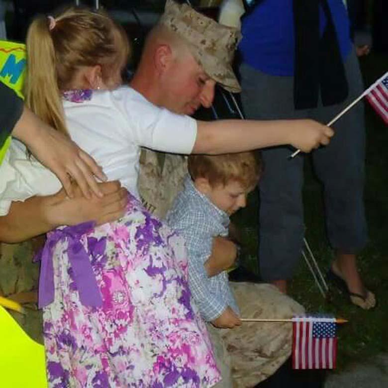 Wyatt pictured with his children. (Facebook)