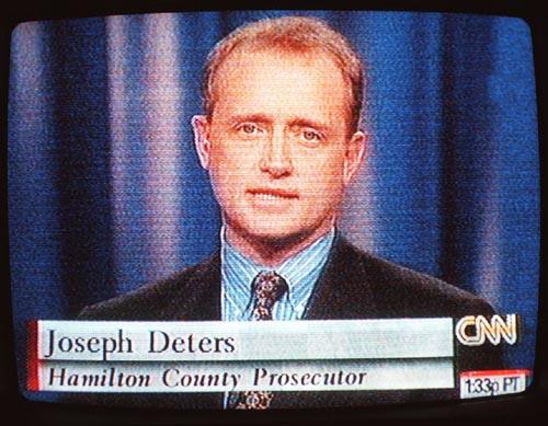 Hamilton County Prosecutor Joe Deters appears on CNN's Burden of Proof in 1998. (Screen grab)