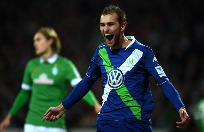 Bas Dost scored 20 goals in all competitions for Wolfsburg last season, aiding the side to a second place finish in the Bundesliga.  (Getty)