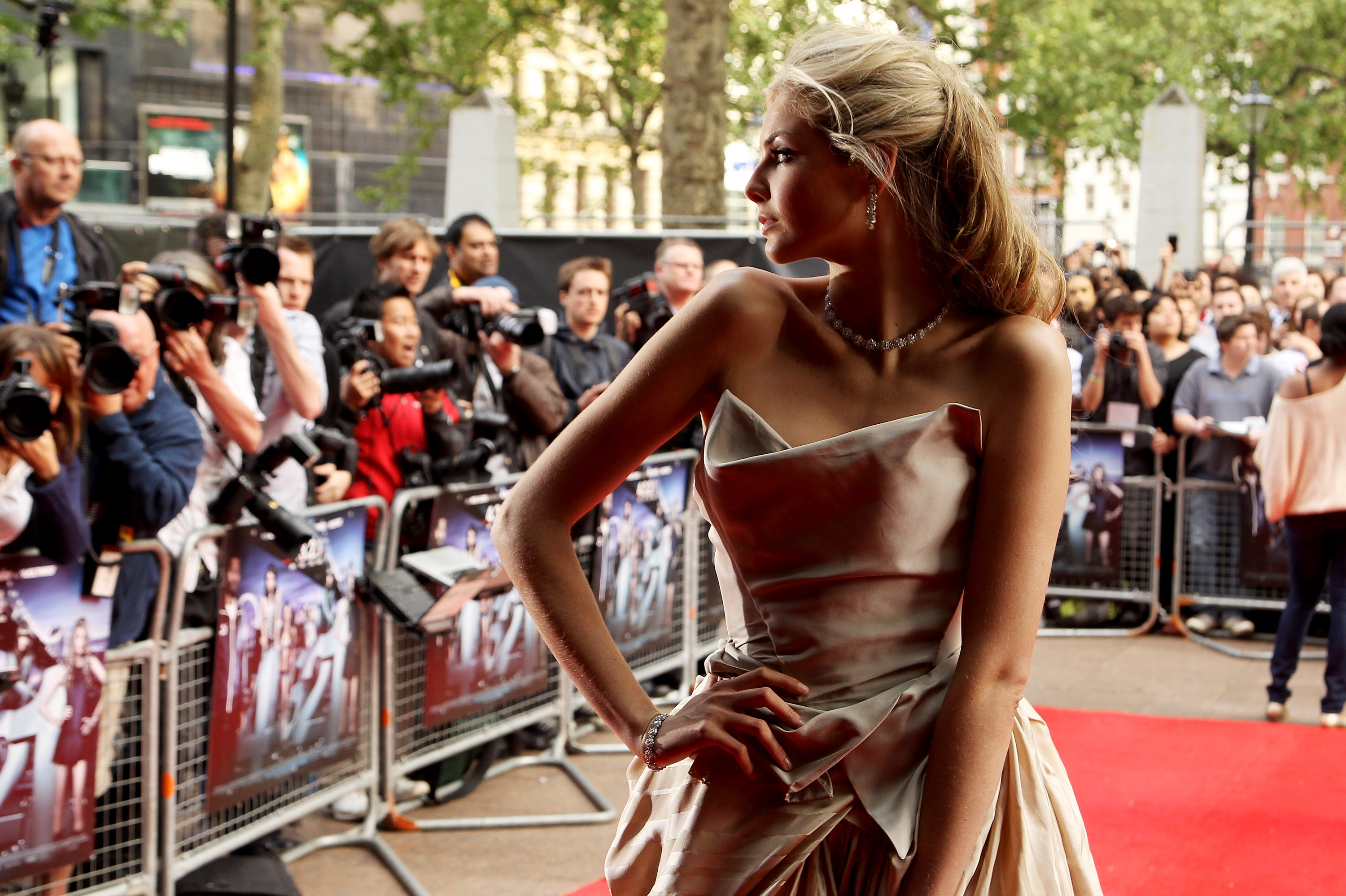 LONDON, ENGLAND - MAY 25:  (UK TABLOID NEWSPAPERS OUT) Tamsin Egerton attends the world premiere of 4.3.2.1 held at The Empire Leicester Square on May 25, 2010 in London, England.  (Photo by Fergus McDonald/Getty Images)