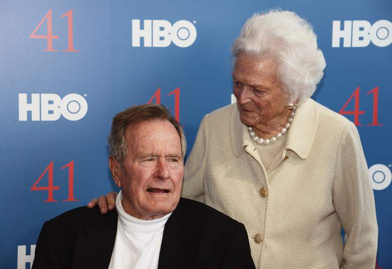 "President George H.W. Bush and his wife, Mrs. Barbara Bush attend the HBO Documentary special screening of ""41"" (Getty)"