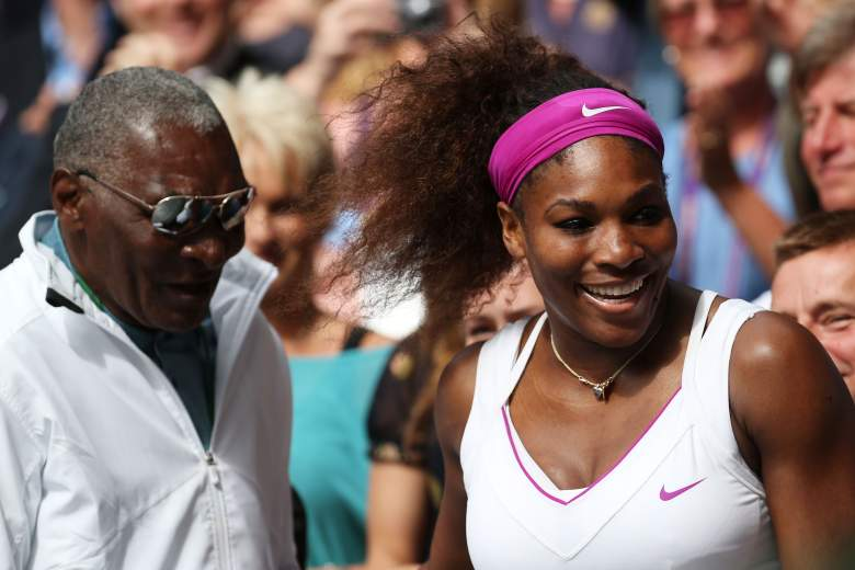 Richard Williams with daughter Serena at the 2012 Wimbledon Championships. (Getty)