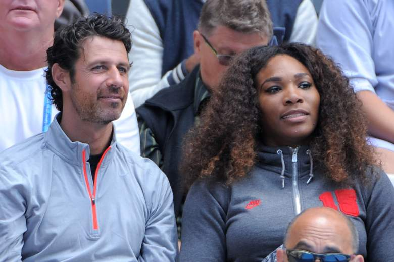 MELBOURNE, AUSTRALIA - JANUARY 14:  Serena Williams of the United States and her coach Patrick Mouratoglou watch Venus Williams of the United States in her first round match against Galina Voskoboeva of Kazakhstan during day one of the 2013 Australian Open at Melbourne Park on January 14, 2013 in Melbourne, Australia.  (Photo by Vince Caligiuri/Getty Images)