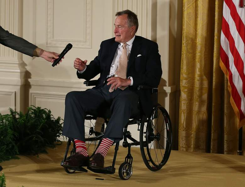 WASHINGTON, DC - JULY 15:  Former President George H. W. Bush at the White House, July 15, 2013 (Getty)