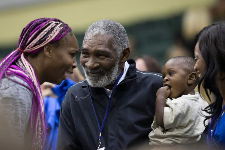 LAKE BUENA VISTA, FL - NOVEMBER 17: Venus Williams greets father Richard Williams and family during the 2013 Mylan WTT Smash Hits on November 17, 2013 at the ESPN Wide World of Sports Complex in Lake Buena Vista, Florida. (Photo by Manuela Davies/Getty Images)