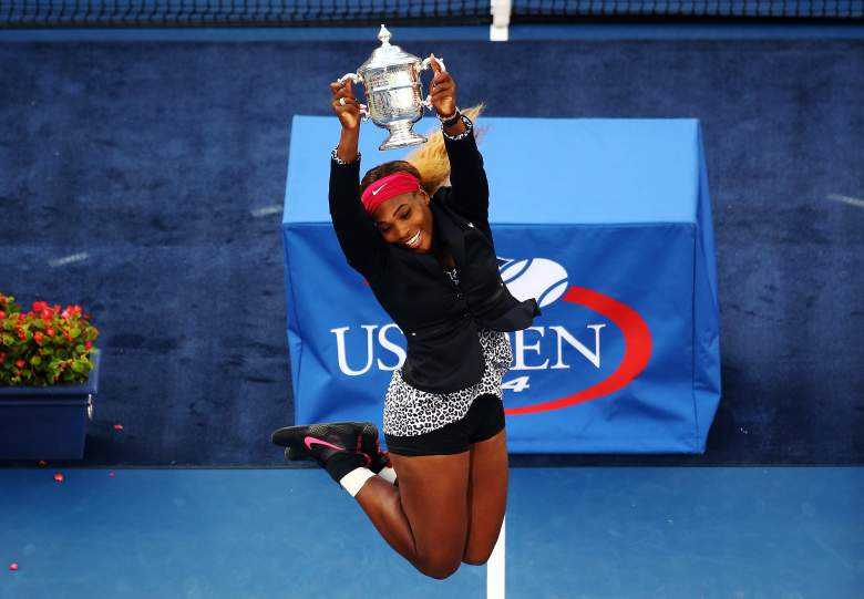 Williams celebrates after capturing her 18th major win at the 2014 US Open. (Getty)