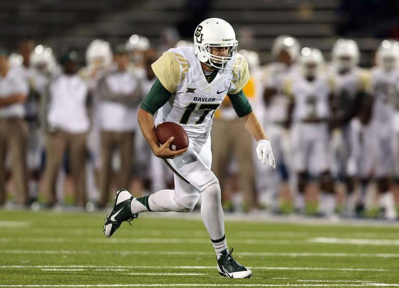 BUFFALO, NY - SEPTEMBER 12:  Seth Russell #17 of the Baylor Bears runs in a touchdown against the Buffalo Bulls at UB Stadium on September 12, 2014 in Buffalo, New York.  (Photo by Vaughn Ridley/Getty Images)