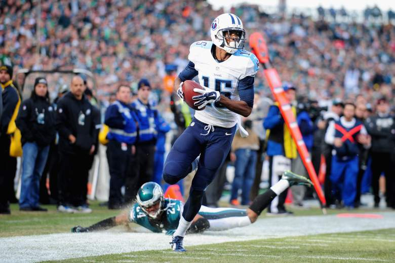 PHILADELPHIA, PA - NOVEMBER 23:  Justin Hunter #15 of the Tennessee Titans scores a touchdown in the second quarter against the Philadelphia Eagles at Lincoln Financial Field on November 23, 2014 in Philadelphia, Pennsylvania.  (Photo by Evan Habeeb/Getty Images)