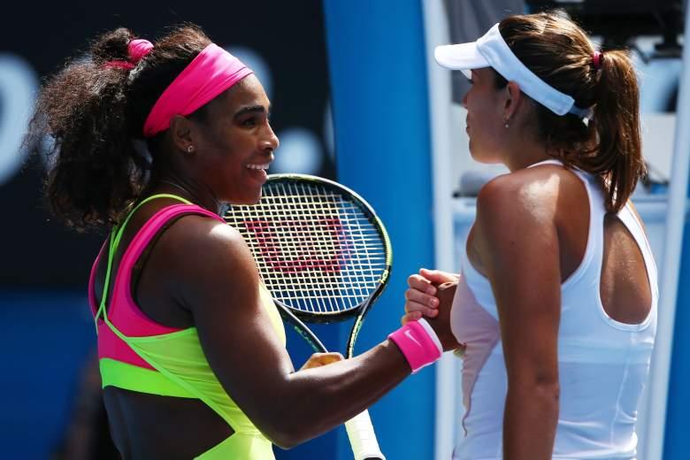 Serena Williams and Garbine Muguruza will meet in the Wimbledon women's final on Saturday. (Getty)