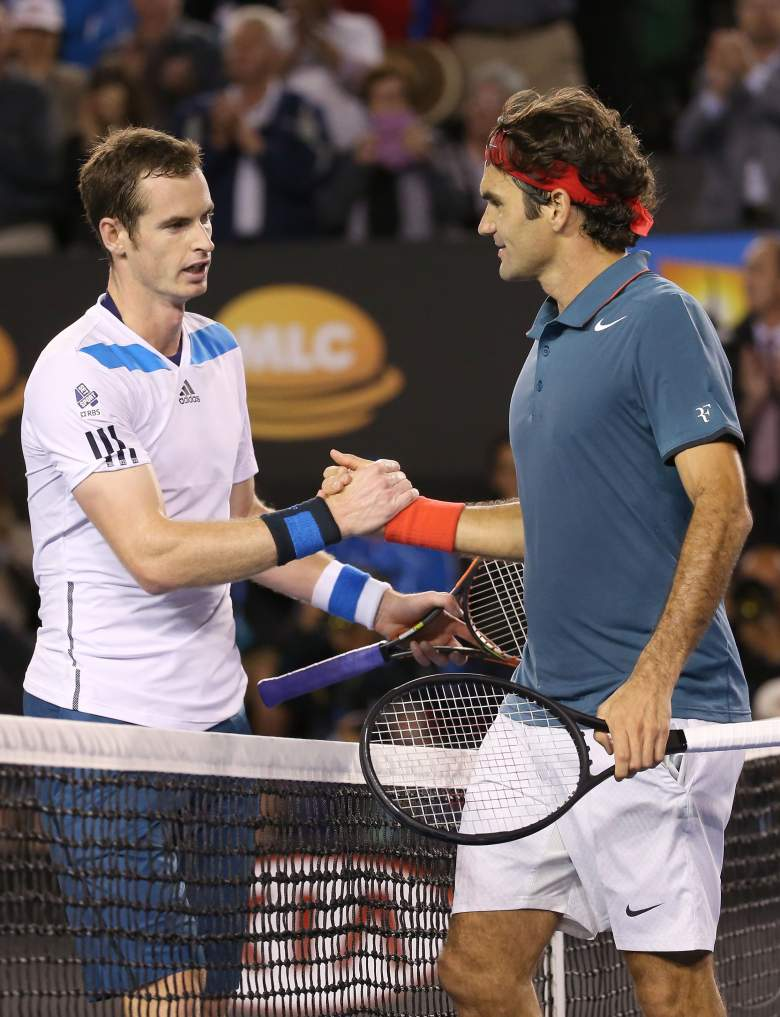 MELBOURNE, AUSTRALIA - JANUARY 22:  Andy Murray of Great Britain shakes hands with Roger Federer of Switzerland after Federer won their quarterfinal match during day 10 of the 2014 Australian Open at Melbourne Park on January 22, 2014 in Melbourne, Australia.  (Photo by Michael Dodge/Getty Images)