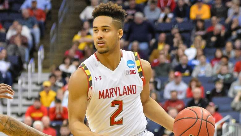 Maryland's Melo Trimble leads the United States Pan American Men's Basketball Team against Venezuela to begin the tournament. (Getty)