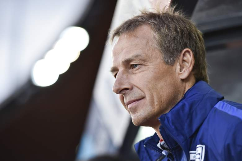United States coach Juergen Klinsmann  watches his team on March 31, 2015 during a friendly football match between Switzerland and the United States at the Letzigrund stadium in Zurich. AFP PHOTO / MICHAEL BUHOLZER        (Photo credit should read MICHAEL BUHOLZER/AFP/Getty Images)