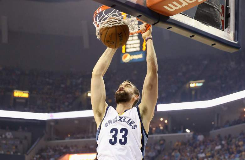 Marc Gasol is expected to re-sign with the Memphis Grizzlies. (Getty)