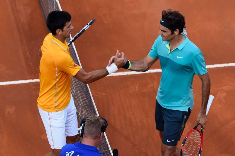 Novak Djokovic, left, and Roger Federer are set to meet in the Wimbledon men's final. (Getty)