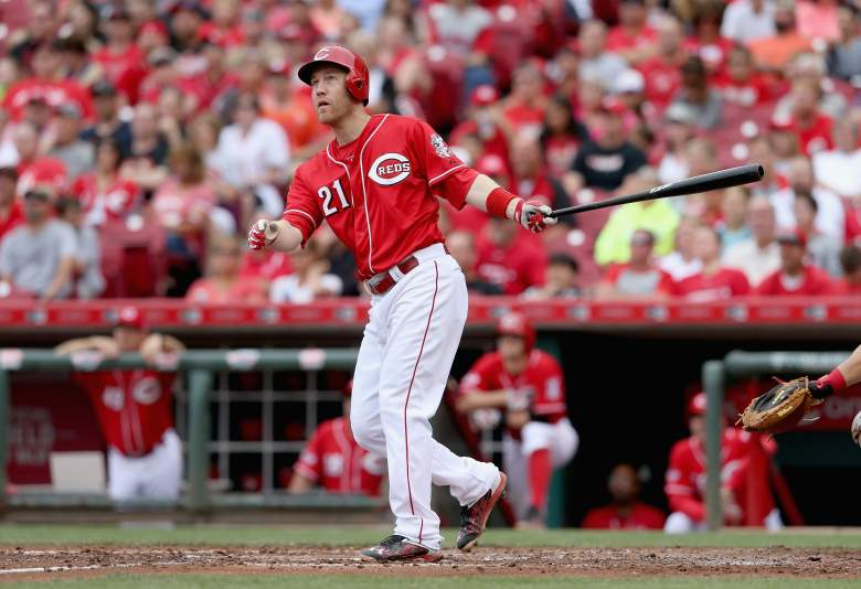Todd Frazier of the host Cincinnati Reds is in the Home Run Derby. (Getty)