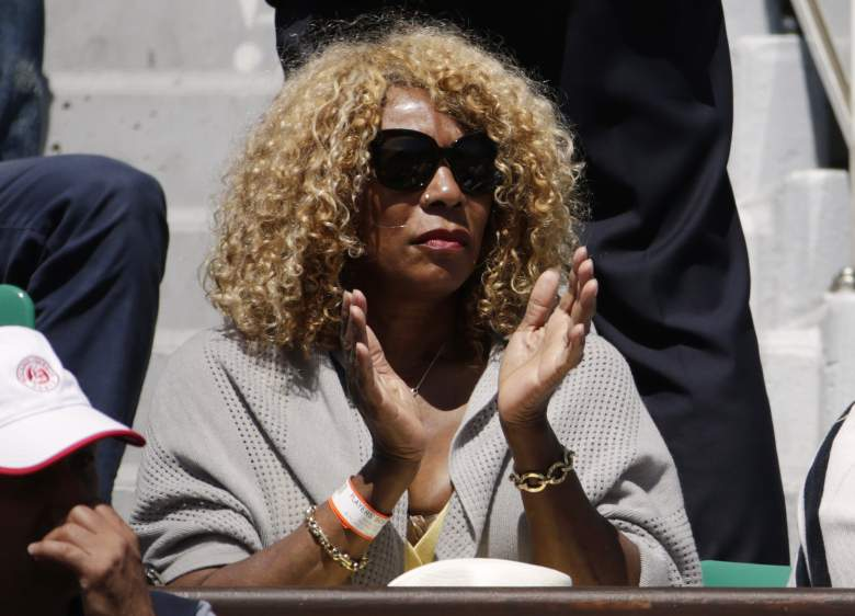 Serena's mother, Oracene Price, watches on from the stands. (Getty)