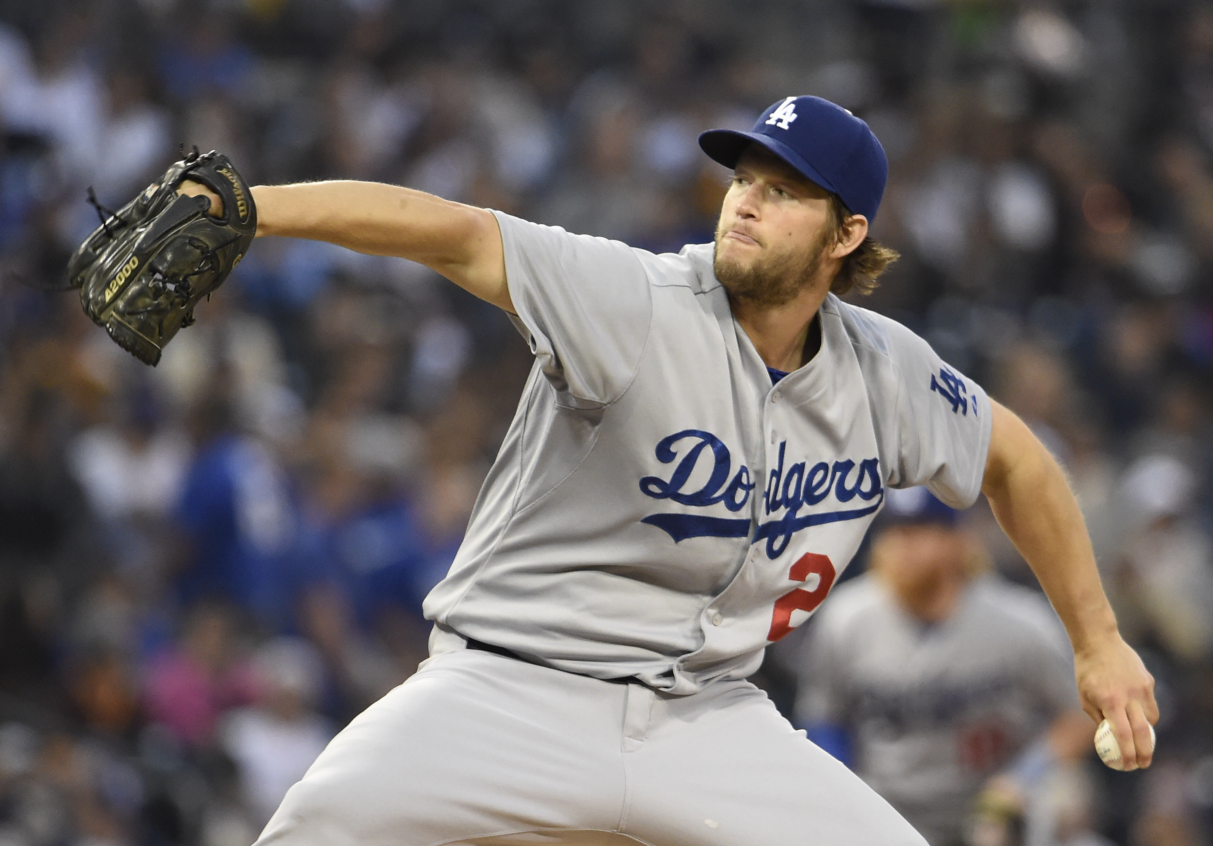 Kershaw's start was pushed to tonight due to hip soreness (Getty).
