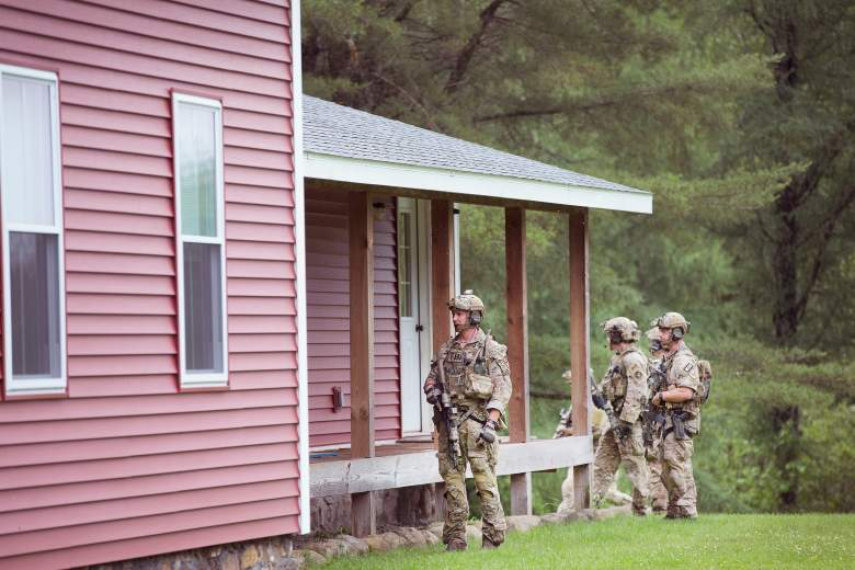 June 26, 2015 in Owls Head, New York. New York State Troopers search a house for prison escapees David Sweat and Richard Matt. (GettyImages)